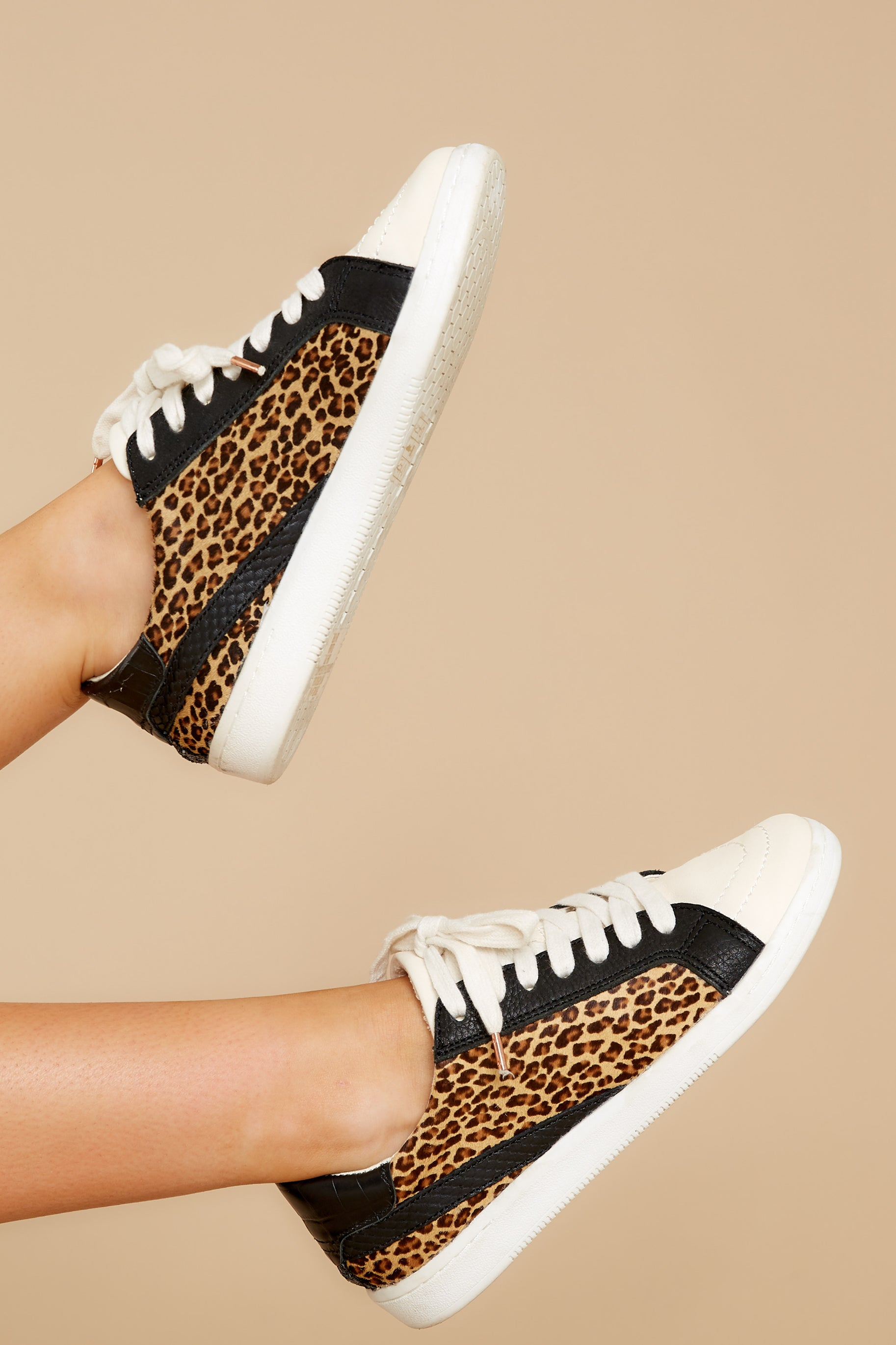 2 Nino Dark Leopard Sneakers at reddress.com