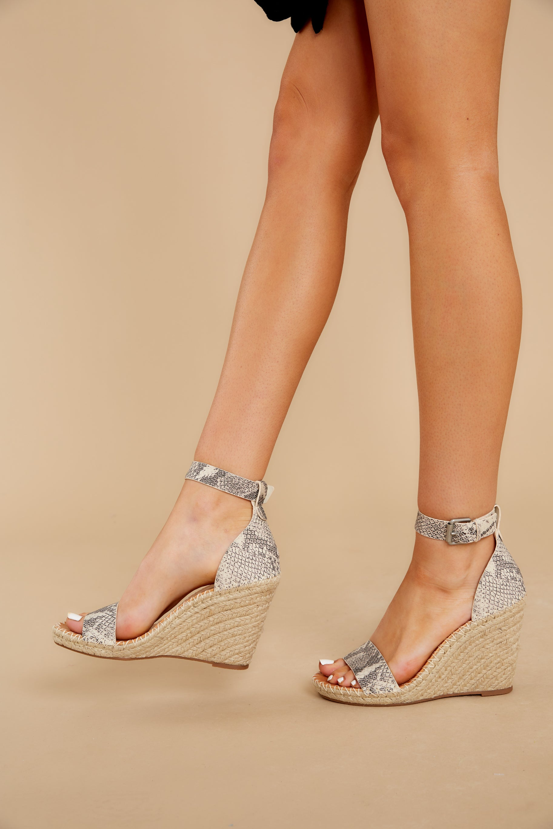 2 Snakeskin Noor Wedges at reddress.com