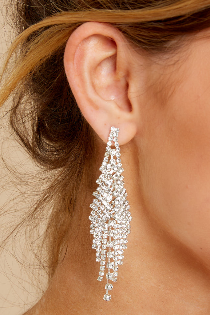 1 Sea You Around White and Gold Beaded Statement Earrings at reddress.com