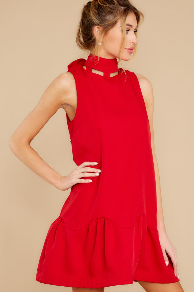 1 Forever Young Two Tone Red Midi Dress at reddress.com