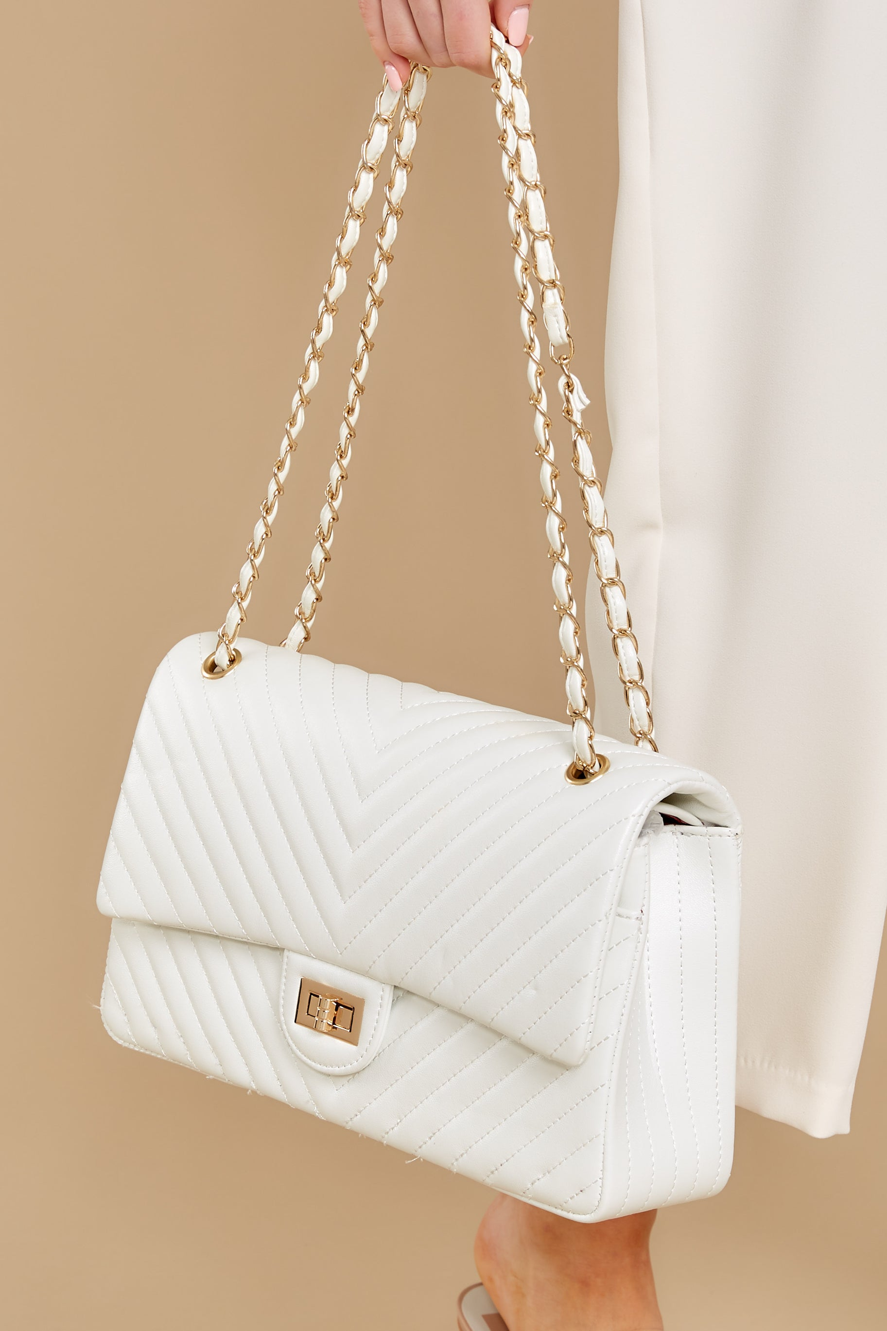 2 Polished And Poised White Bag at reddress.com