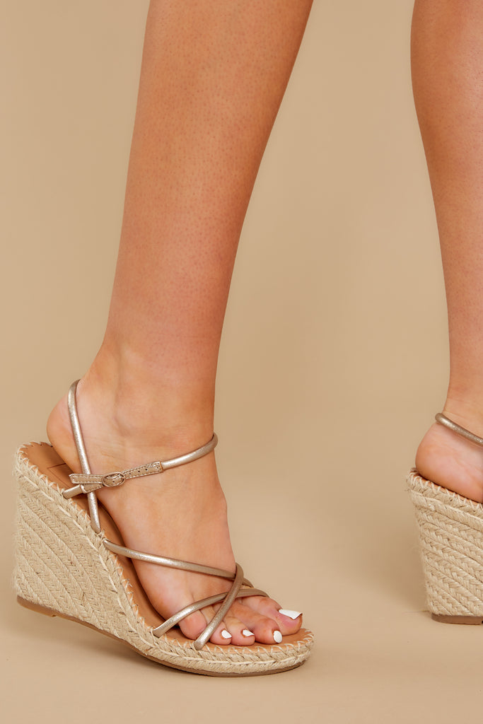 1 Going For Now Taupe Flatform Sandals at reddress.com