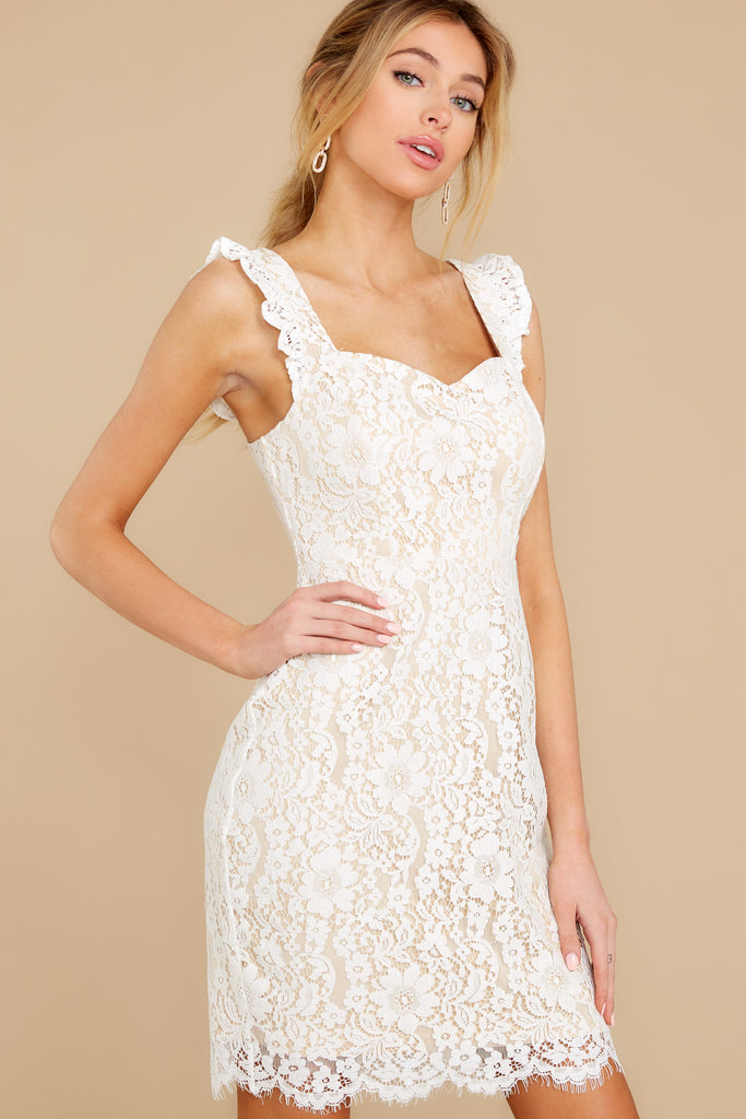1 First Touch Ivory Lace Dress at reddress.com