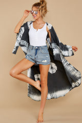 5 Focus On The Good Charcoal Tie Dye Kimono at reddress.com