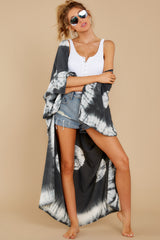 1 Focus On The Good Charcoal Tie Dye Kimono at reddress.com