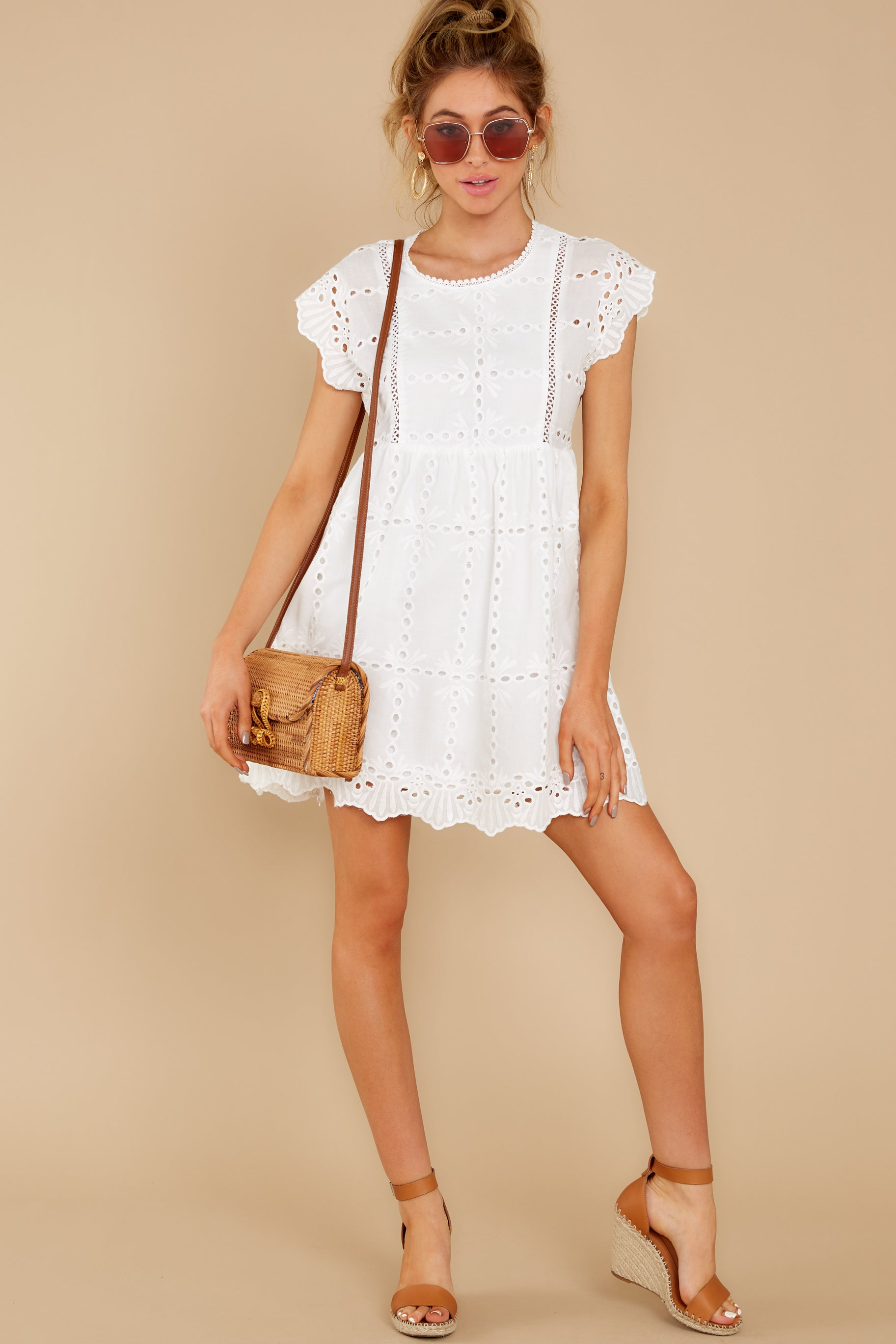 2  Better To Be Sweet White Eyelet Dress at reddress.com