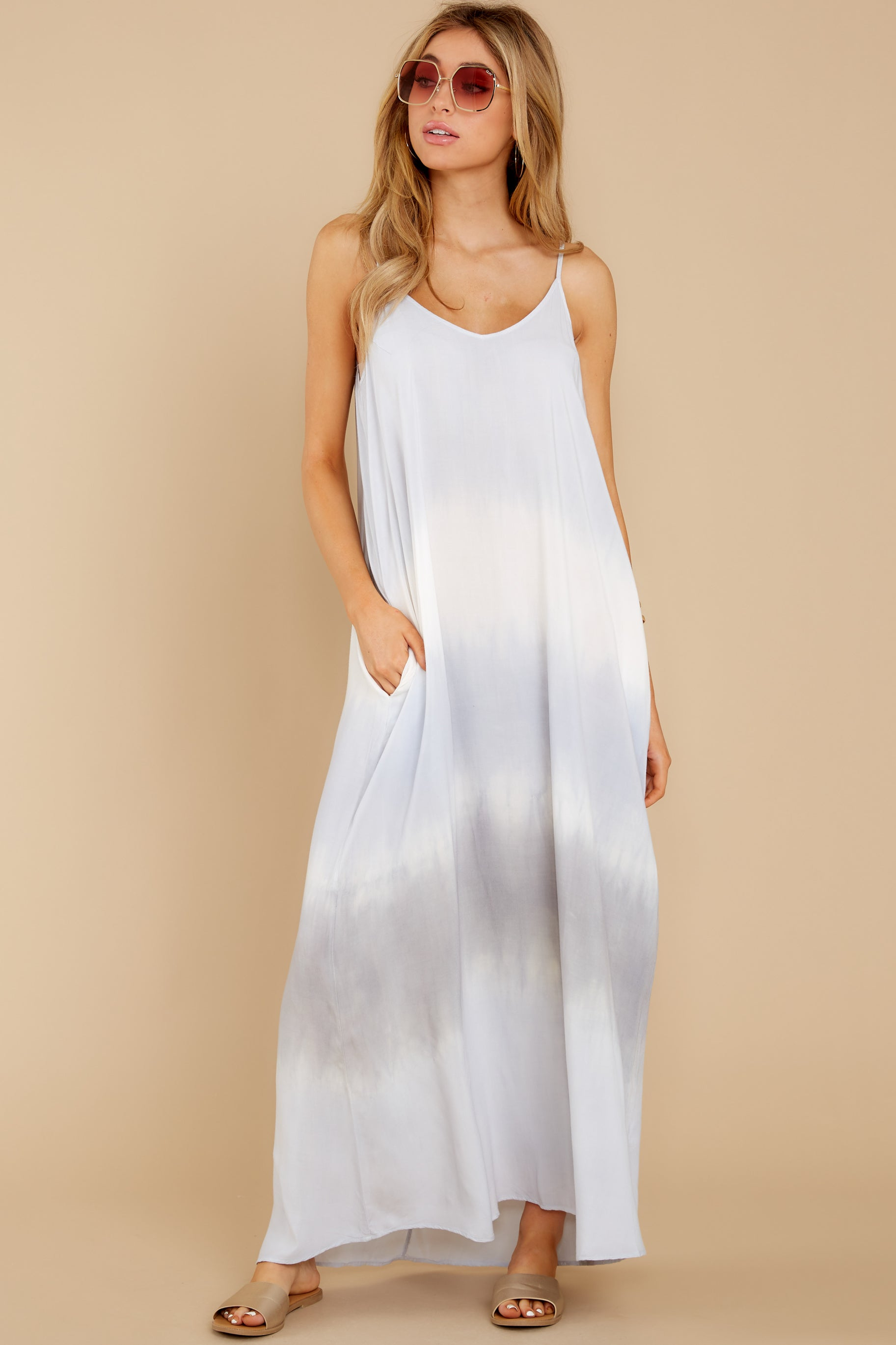 2 All My Love Light Blue Multi Maxi Dress at reddress.com