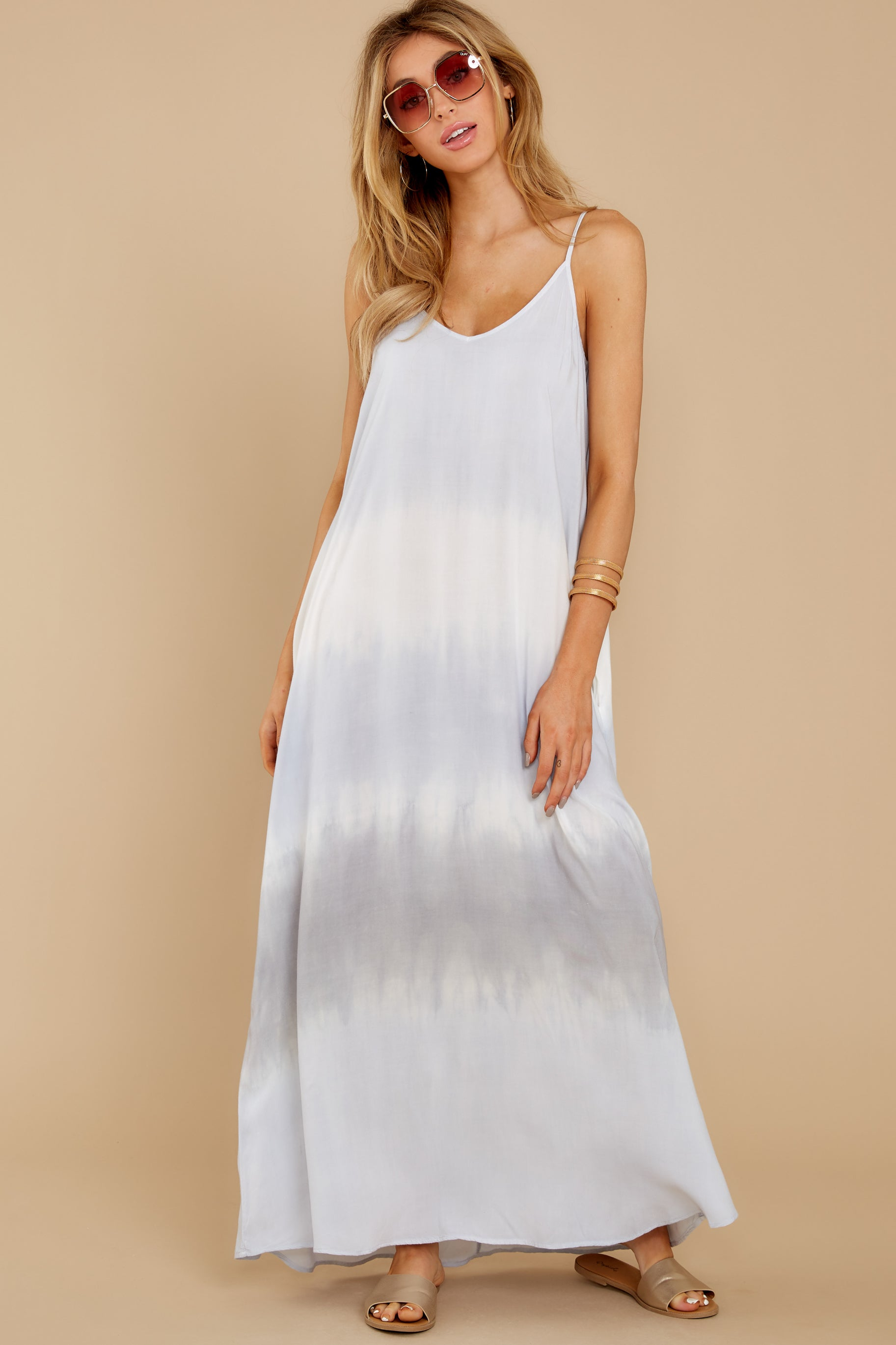 3 All My Love Light Blue Multi Maxi Dress at reddress.com