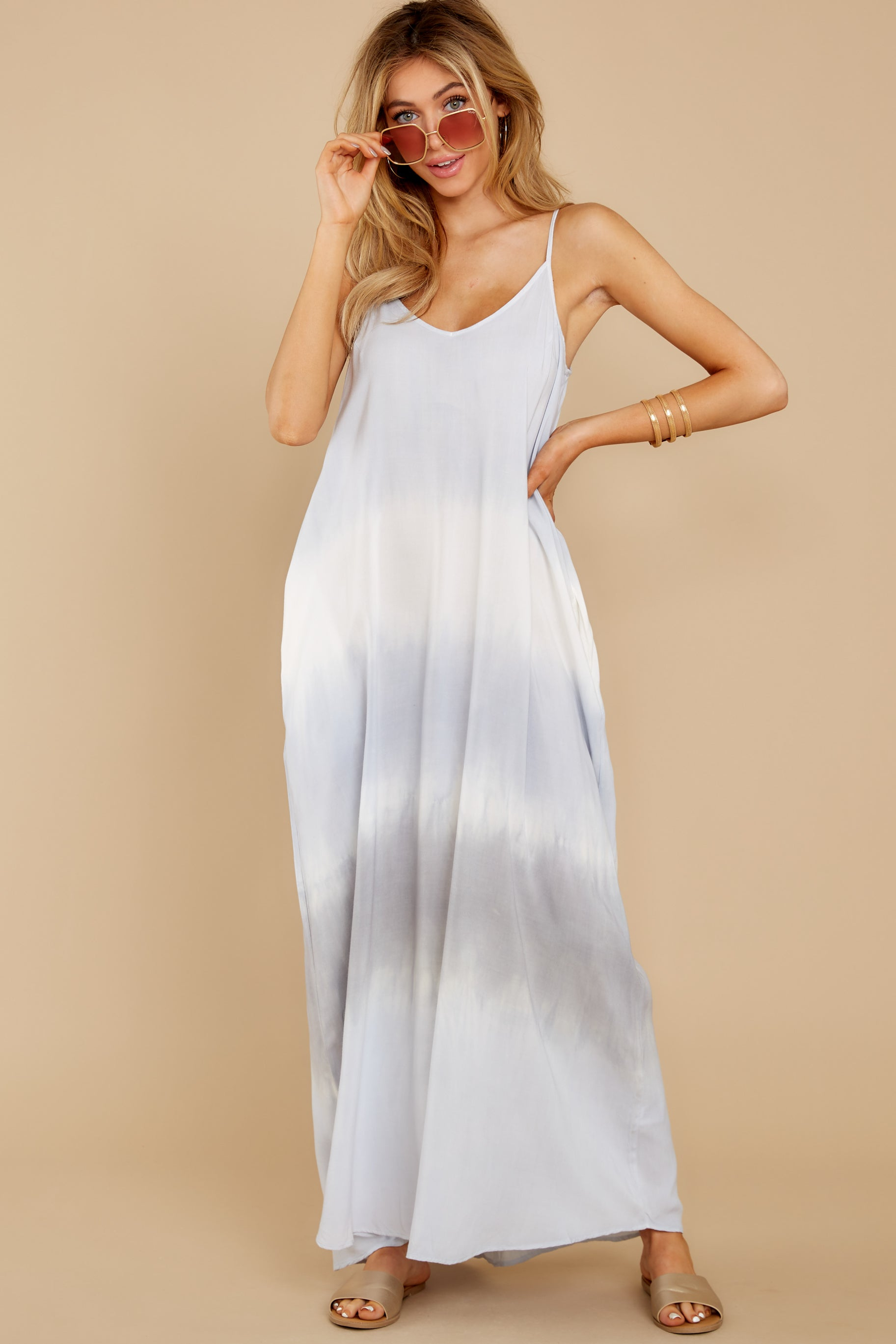 4 All My Love Light Blue Multi Maxi Dress at reddress.com
