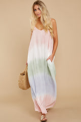 1 All My Love Blush Pink Multi Maxi Dress at reddress.com