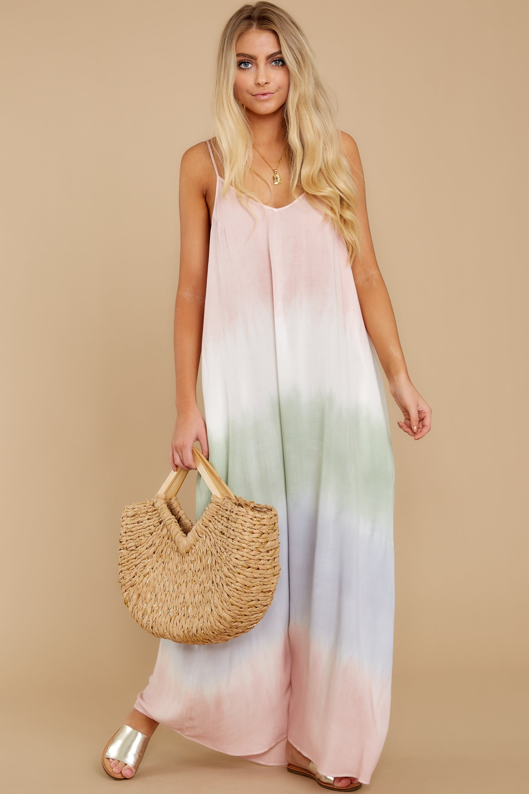2 All My Love Blush Pink Multi Maxi Dress at reddress.com