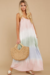 4 All My Love Blush Pink Multi Maxi Dress at reddress.com