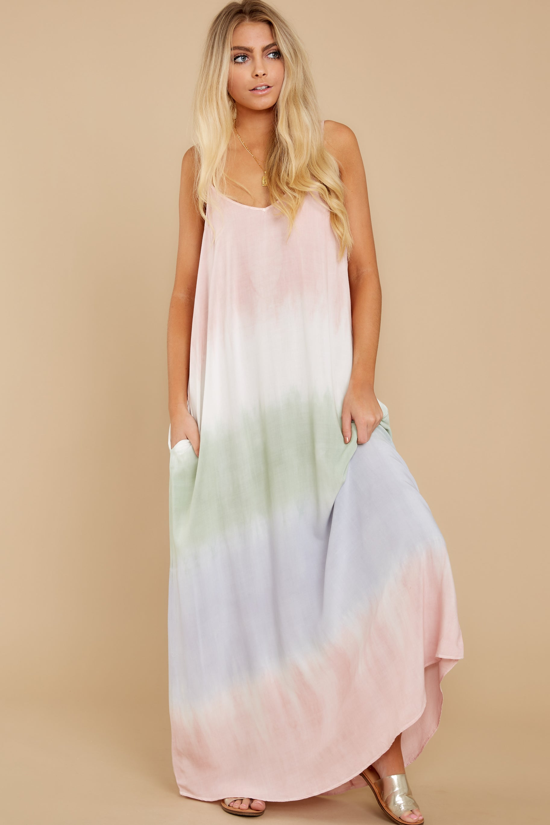 6 All My Love Blush Pink Multi Maxi Dress at reddress.com