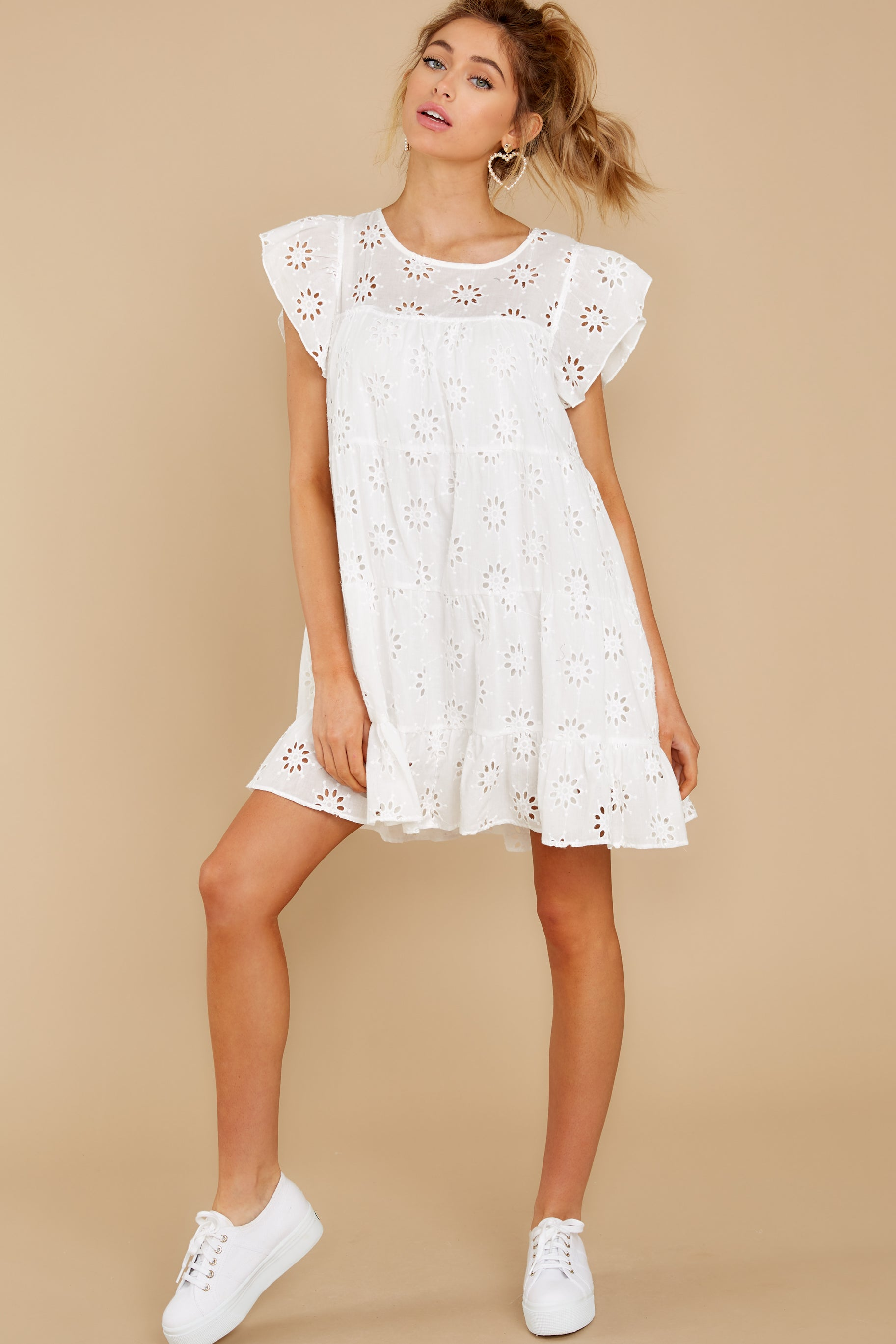 2 Eye For An Eyelet White Dress at reddress.com