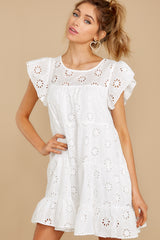 5 Eye For An Eyelet White Dress at reddress.com