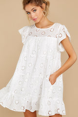 1 Eye For An Eyelet White Dress at reddress.com