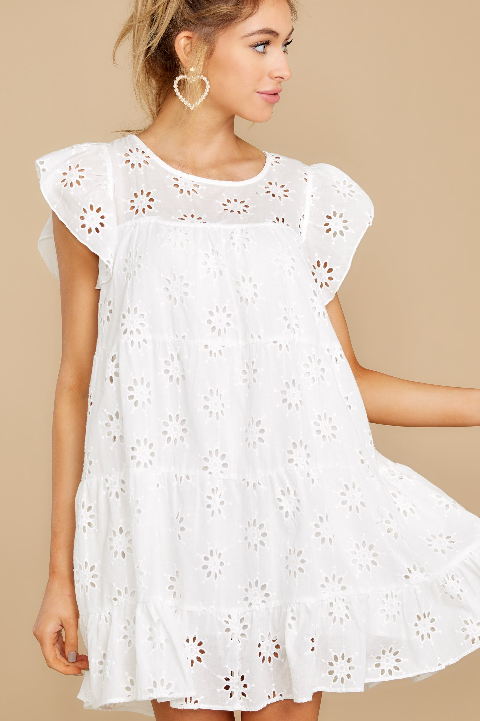 7 Eye For An Eyelet White Dress at reddress.com
