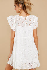 8 Eye For An Eyelet White Dress at reddress.com