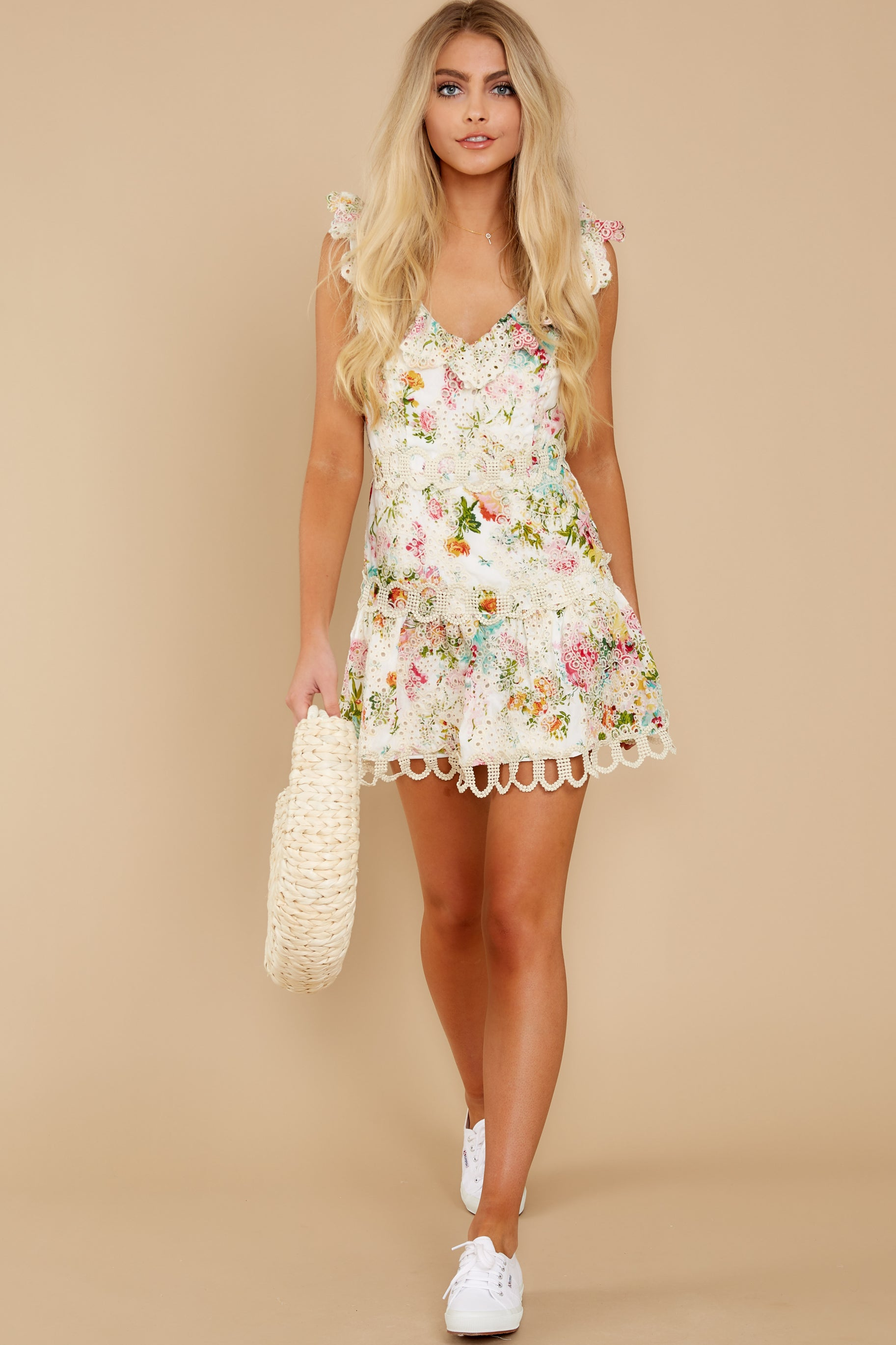 2 Looking For The One Floral Eyelet Dress at reddress.com
