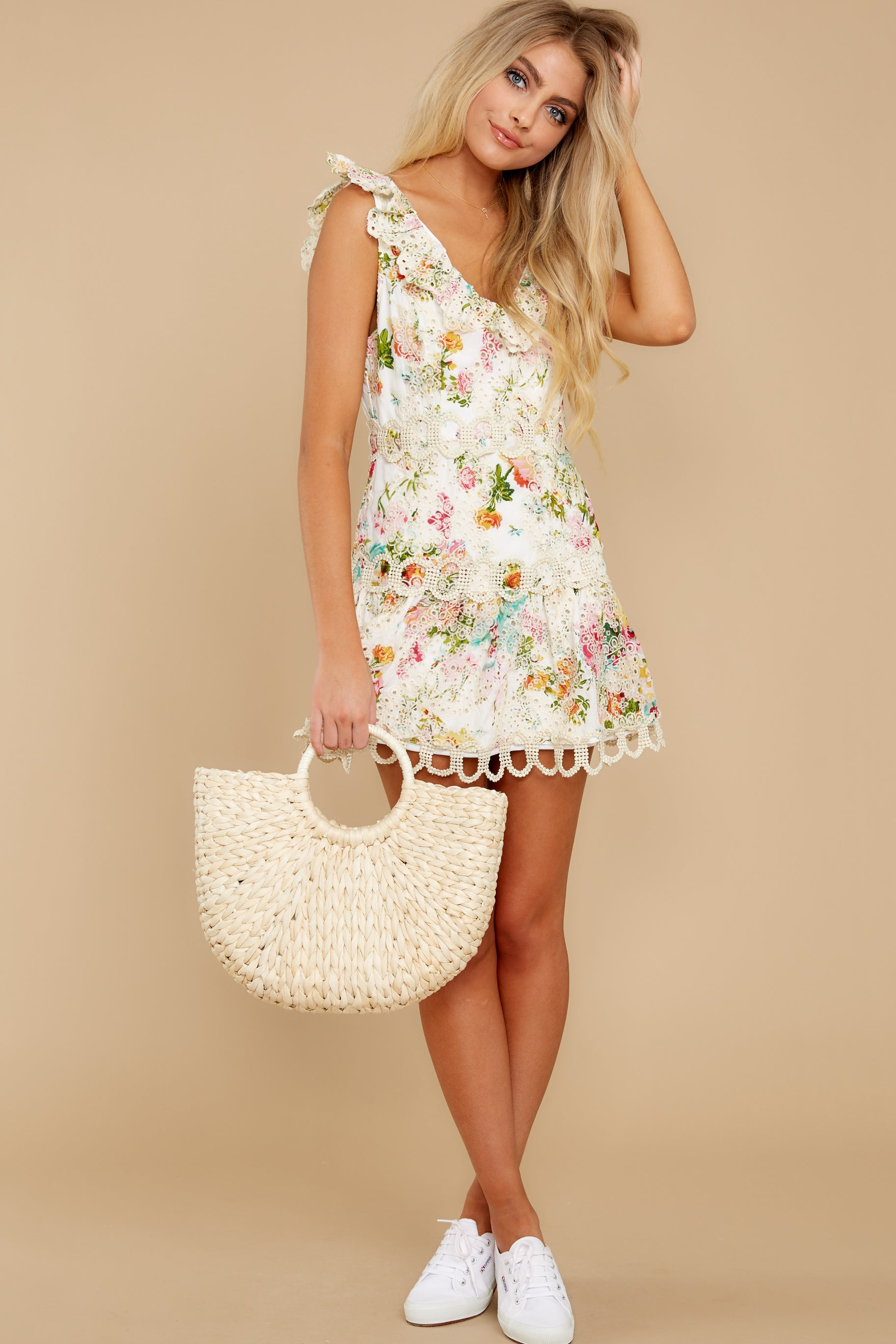 4 Looking For The One Floral Eyelet Dress at reddress.com