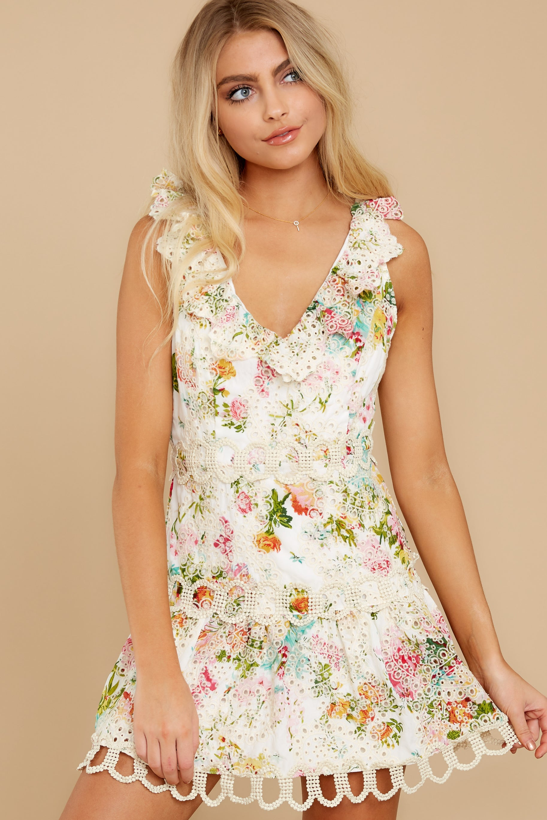 6 Looking For The One Floral Eyelet Dress at reddress.com
