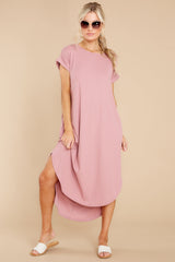 6 Come Away With Me Mauve Blush Midi Dress at reddress.com
