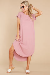 7 Come Away With Me Mauve Blush Midi Dress at reddress.com