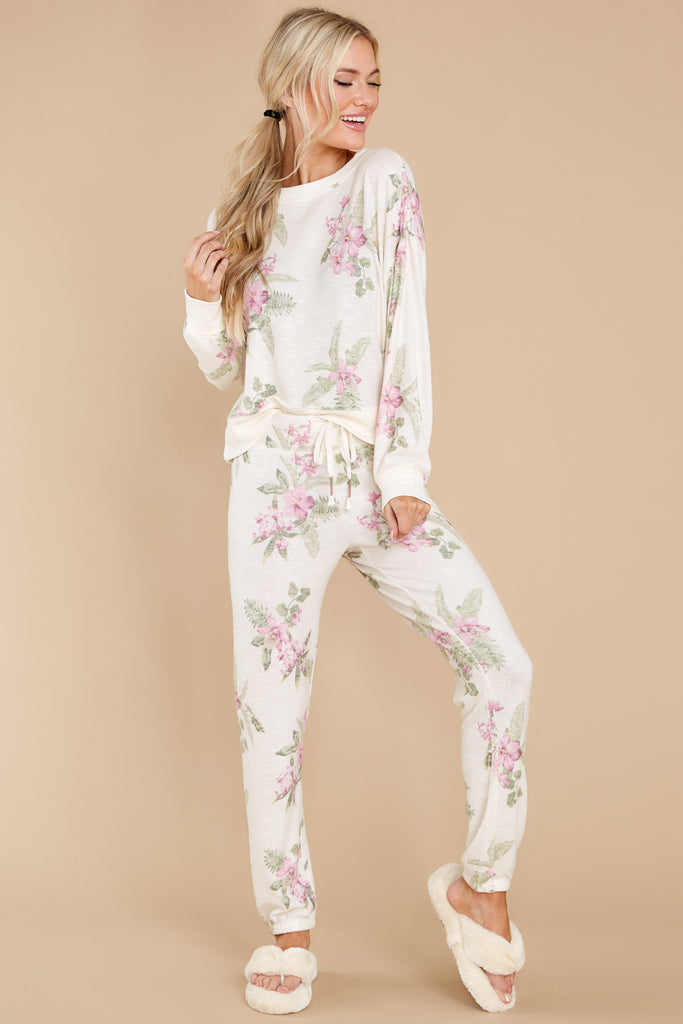 1 Elle Pink Mist Palm Pullover at reddress.com