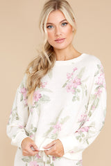 8 Elle Bone Floral Top at reddress.com