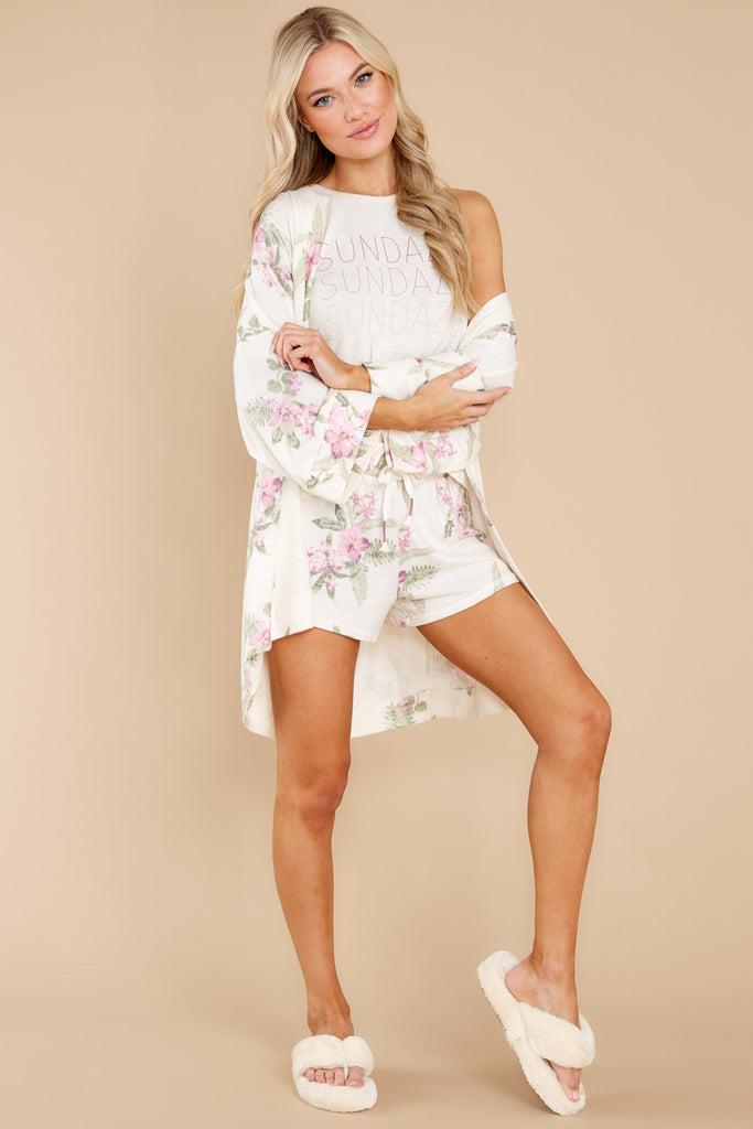 1 Vacay Floral Bone Robe at reddress.com
