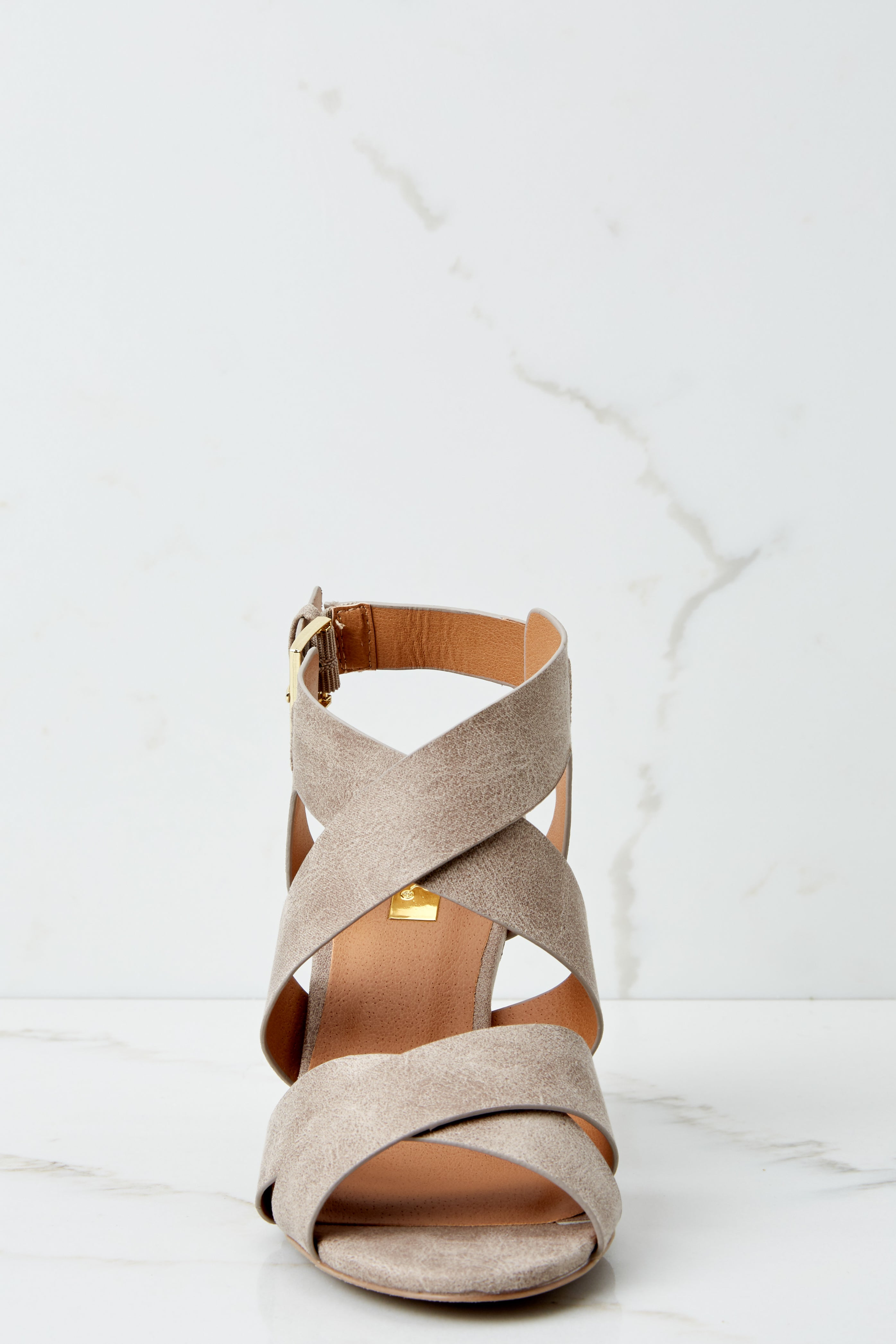2 Step Into Style Taupe High Heel Sandals at reddress.com