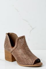 1 On My Move Dark Taupe Ankle Booties at reddress.com
