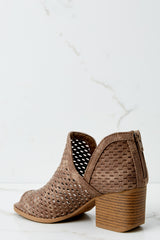 2 On My Move Dark Taupe Ankle Booties at reddress.com