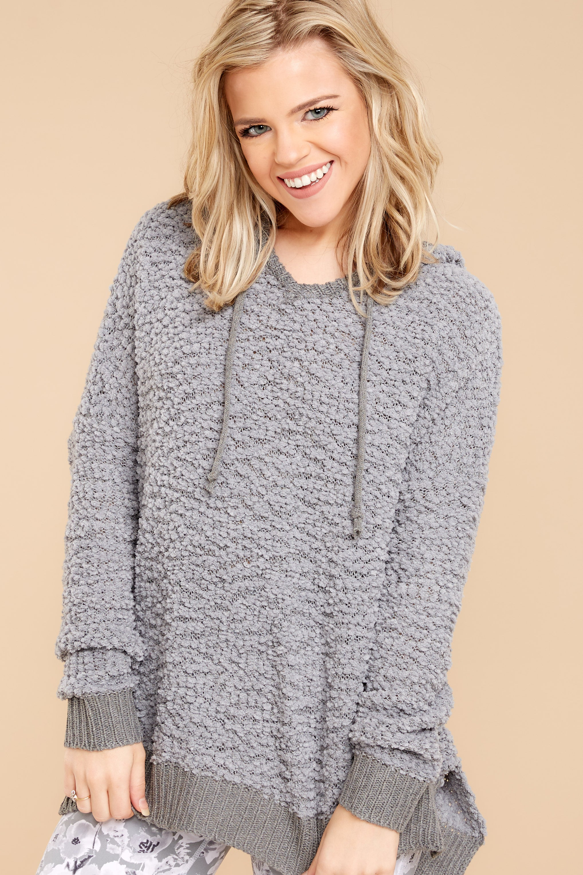 3 Sunday Snuggles Charcoal Grey Wubby Pullover at reddressboutique.com