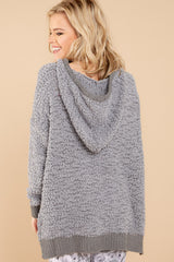 6 Sunday Snuggles Charcoal Grey Wubby Pullover at reddressboutique.com