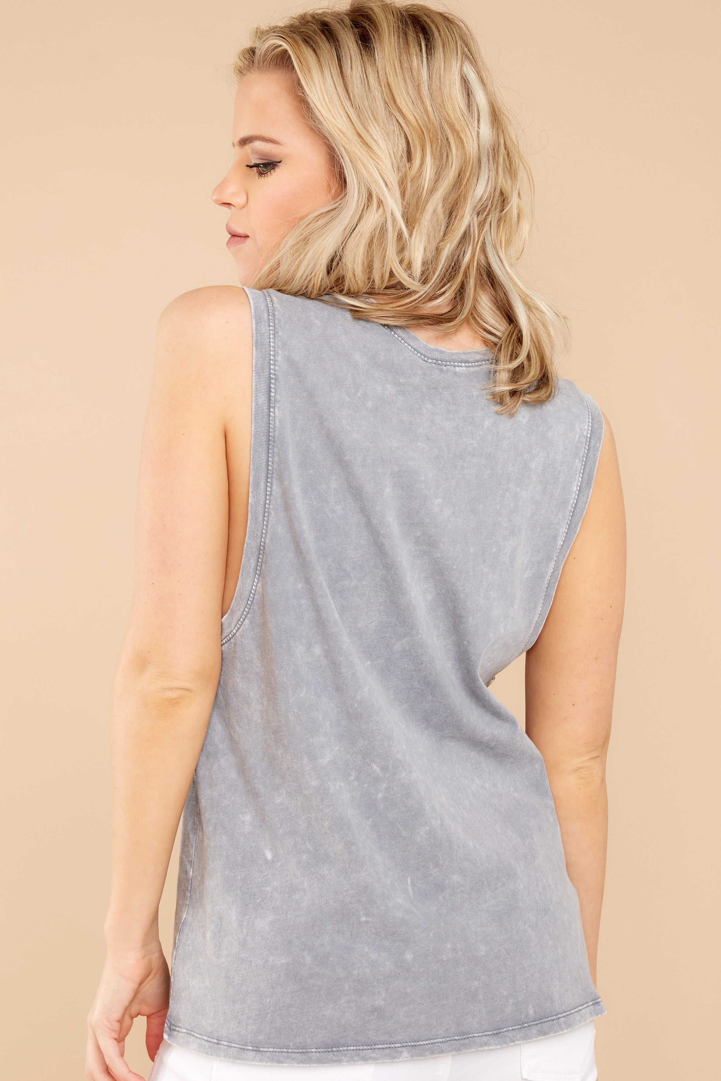 5 Z Supply Washed Muscle Tank In Grey at reddressboutique.com5