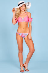 2 Life On The Shore Pink Multi Bikini Bottoms at reddress.com