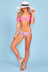 4 Life On The Shore Pink Multi Bikini Bottoms at reddress.com