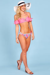3 Life On The Shore Pink Multi Bikini Bottoms at reddress.com
