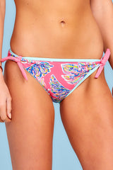 1 Life On The Shore Pink Multi Bikini Bottoms at reddress.com