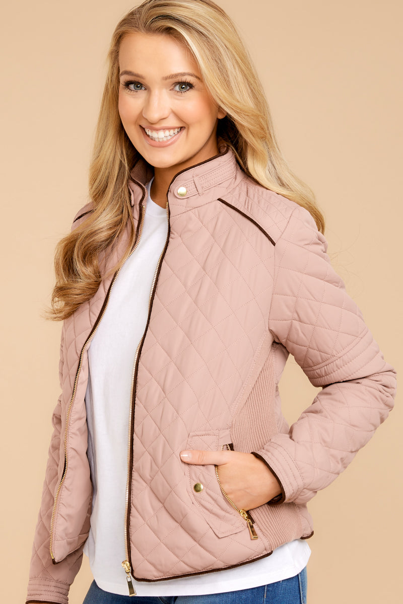 5 Feel The Chill Blush Pink Jacket at reddressboutique.com