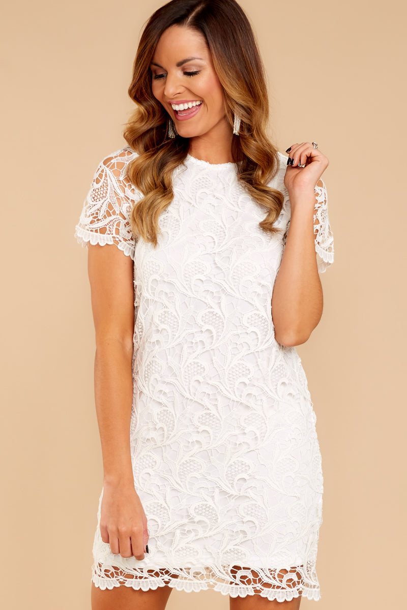 01e82203f7a1 Cute White Dress - Chic Lace Dress - Dress -  21.00 – Red Dress