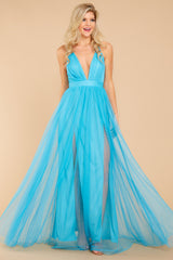 7 Ever After Matters Of The Heart Island Blue Maxi Dress at reddressboutique.com
