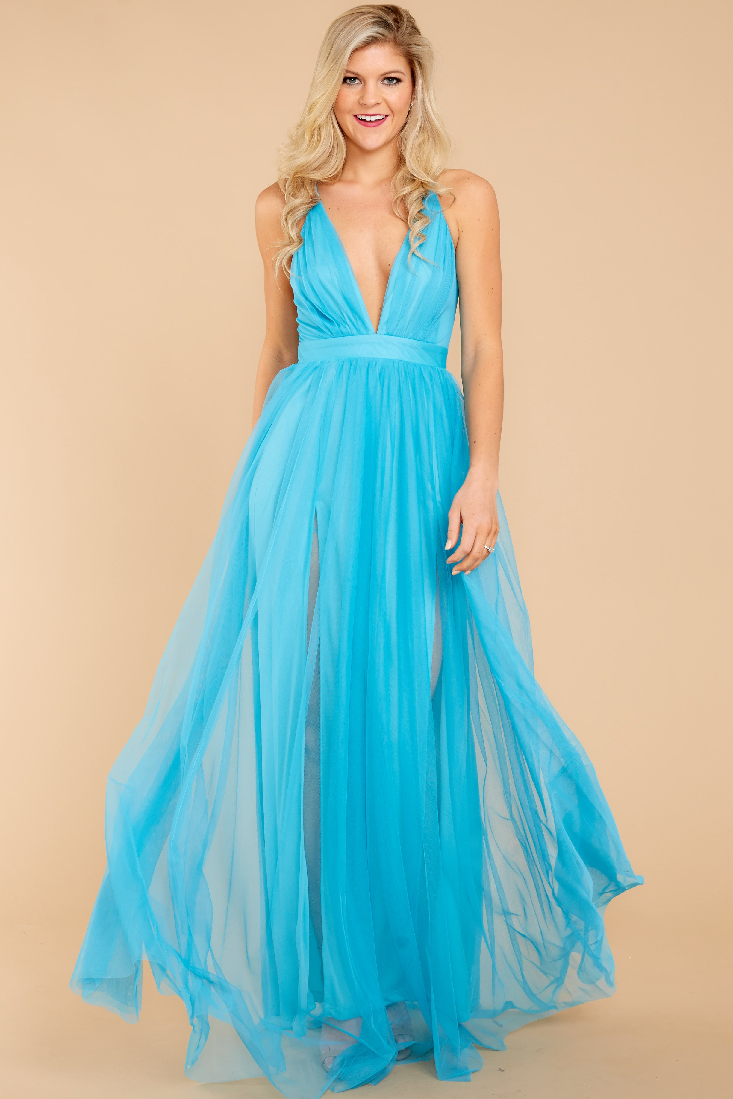 5 Ever After Matters Of The Heart Island Blue Maxi Dress at reddressboutique.com