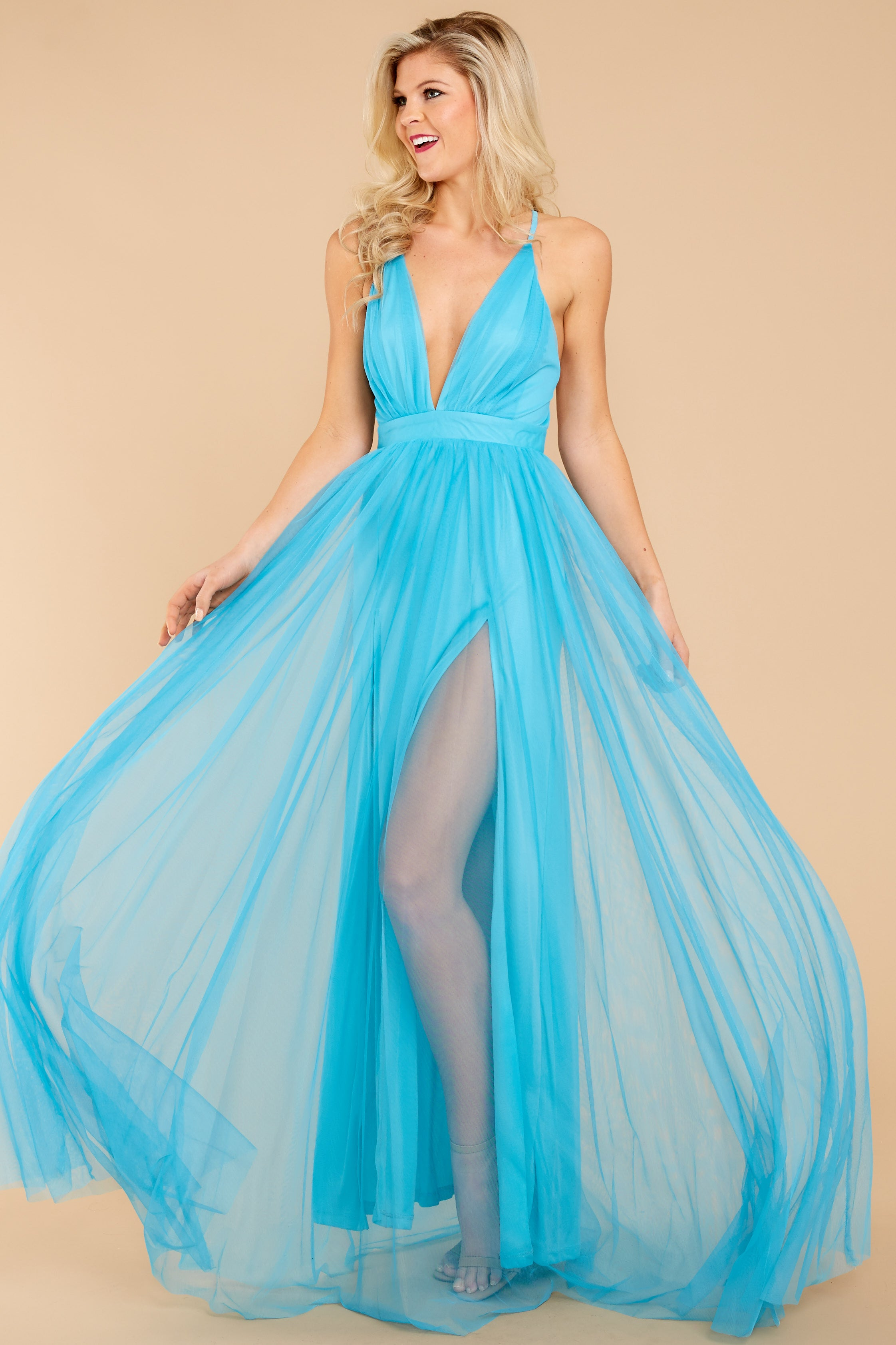 1 Ever After Matters Of The Heart Island Blue Maxi Dress at reddressboutique.com