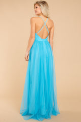 2 Ever After Matters Of The Heart Island Blue Maxi Dress at reddressboutique.com