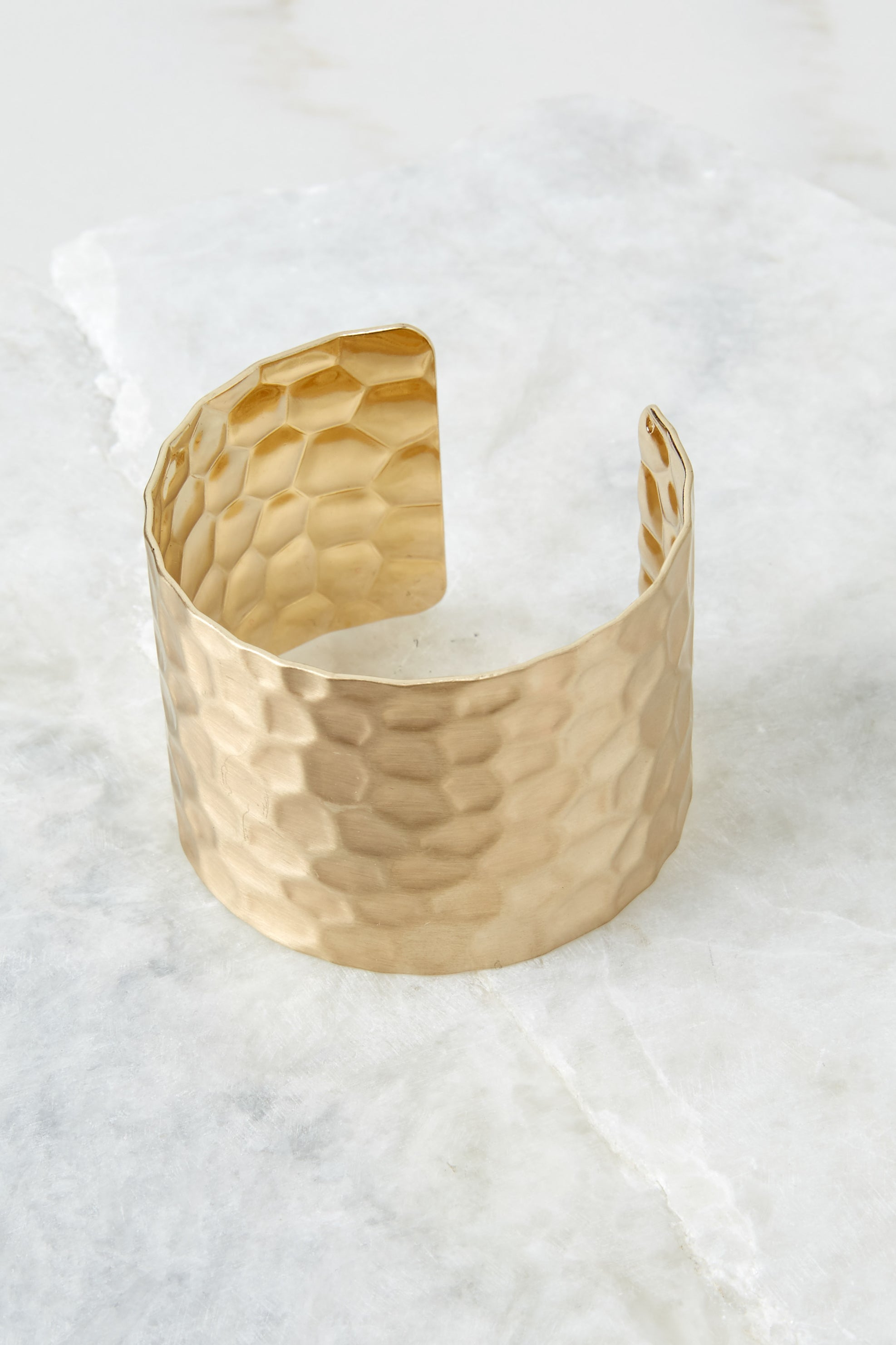 2 Make Them Stammer Gold Cuff Bracelet at reddressboutique.com