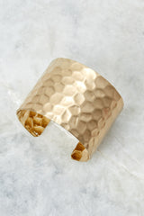 3 Make Them Stammer Gold Cuff Bracelet at reddressboutique.com