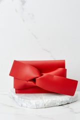 4 Make It Even Red Clutch, at reddress.com