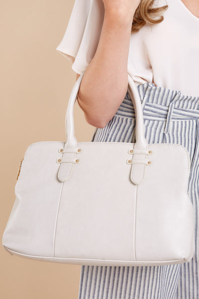 Good News Ivory Handbag